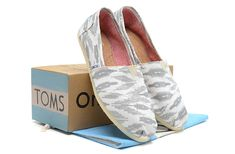 2014 New Arrival Toms Shoes White Grey