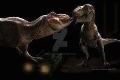 T Rexes by GalileoN on DeviantArt T Rex Jurassic Park, Jurassic Park Trilogy, Jurassic Park Poster, Jurassic Park World, Real Dinosaur, Dinosaur Art, Tiranosaurios Rex, Big Cats Art, Megalodon Shark