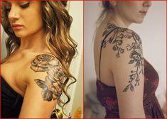 Vogelschwarm Oberarm Tattoos für Frauen