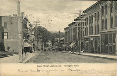 Water Street Looking East Torrington, CT Postcard