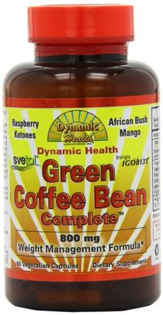 Dynamic Health Green Coffee Bean Complete Capsules 60 Count ** Want to know more, click on the image. Best Weight Loss Supplement, Weight Loss Supplements, Organic Apple Cider Vinegar, Raspberry Ketones, Appetite Control, Diet Books, Sports Nutrition, Diet Pills, How To Lose Weight Fast