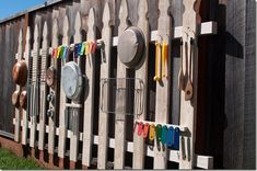 DIY Music Fence- looks like fun (but maybe put the louder instruments up a little higher...)
