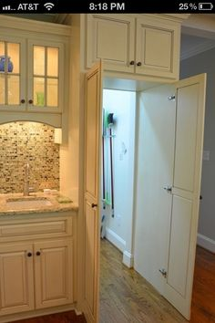This is great!! Hide the room that houses all the cleaning supplies. Now we can actually put it all somewhere without cramming it into small cabinets and corners.