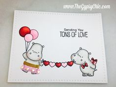 Image result for MFT HAppy Hippos clear stamps cards