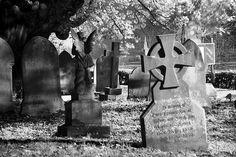 Staffords Castle Church graveyard at night ::By Phil Kemp::