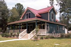 House Plan 45628 at FamilyHomePlans.com : cute little farmhouse! Would actually make a great cabin too...