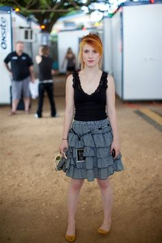 Haley Williams the lead singer of paramore