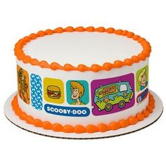 8' Round Scooby-Doo Where Are You? Designer Strips Edible Cake Borders >>> Continue to the product at the image link.