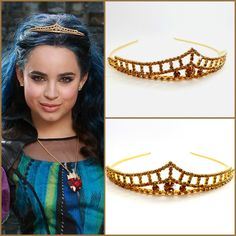 Disney Descendants Crown, Evie Descendants Tiara , Evie Headpiece , Evie costume,Descendants Headpiece ,Evie Gold Tiara ,Evie Gold Crown by StarDustSpark on Etsy https://www.etsy.com/listing/262905143/disney-descendants-crown-evie