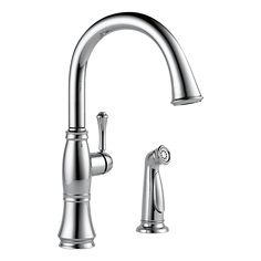 Delta 4297-DST - Single Handle Kitchen Faucet with Spray