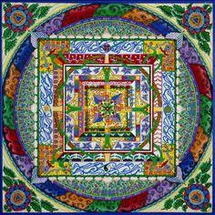 Tibetan sand mandala Mandala Art, Sand Painting, Sand Art, Tibetan Sand Mandala, Tibetan Art, Wow Art, Buddhist Art, Fractal Art, Sacred Geometry