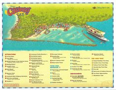 Castaway Cay Map • The Disney Cruise Line Blog. This site has great tips :)