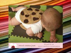DIY Felt Chocolate Chip Cookie Chipwich Infant by sweetemmajean, $9.99