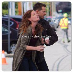 "Rebecca Mader and Josh Dallas - Behind the scenes - 5 * 1 ""Dark Swan"" 17 July 2015"