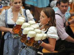 Oktoberfest kicked off on September 22nd and an estimated 80 million beers are expected. <3