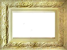 フレーム枠イラスト「写真風の額縁-黄」