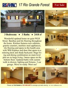Move in ready home with a long list of improvements and updates. Granite Counters, Stainless Steel Appliances, Hearth, Tile Floor, Bamboo, Garage Doors, Real Estate, Outdoor Decor, Home Decor