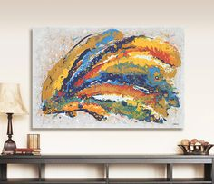 Abstract Painting Modern Abstract Art ORIGINAL by hjmArtGallery