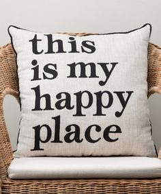 Love this 'My Happy Place Pillow' Throw Pillow on #zulily! #zulilyfinds