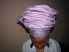 Tradition African Headtie adorned with Swarovski Jems.
