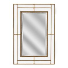 Modern Classic Iron Rectangle Gold Wall Mirror (1187)
