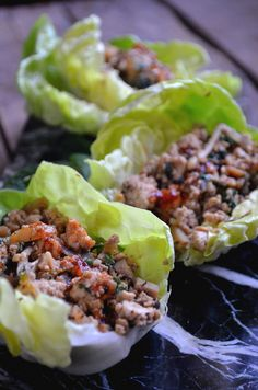 Asian Lettuce Cups With Spicy Dipping Sauce