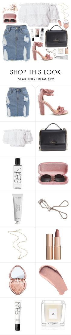 """P A L O M A"" by fauhxie on Polyvore featuring LoveShackFancy, Givenchy, NARS Cosmetics, Miu Miu, Byredo, Shiseido, Charlotte Tilbury, Too Faced Cosmetics, Burberry and vintage"