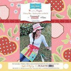 Contrary Mary Garden Hat and Apron Kit by KaronsFabricBoutique