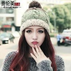 Buy 'GreatMay – Three-Tone Pompom Beanie' with Free International Shipping at YesStyle.com. Browse and shop for thousands of Asian fashion items from China and more!