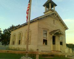 1800's school house ... Similar to the one-room school I would have gone to for first grade ...  except a new grade school had just been built.