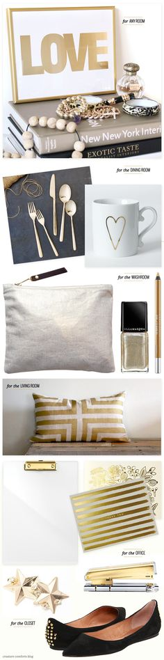 A Subtle Golden Touch for your home, via Creature Comforts