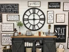 Small House Decorating, Foyer Decorating, Neutral Decorating, Decorating Ideas, Decor Ideas, Farmhouse Clocks, Farmhouse Decor, Modern Farmhouse, Rustic Wall Decor