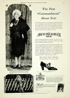 1928 Ad Arch Preserver Shoe Fashion Esther Ralston Silent Film Star Chorus YPP3