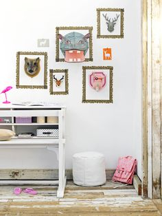 If and when I have a little one, I want to do creative walls in their room like this one.