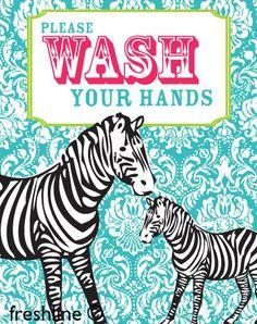 Kids Bathroom Art - Wash Your Hands