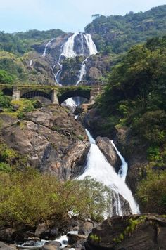 Dudhsagar falls near Goa, India