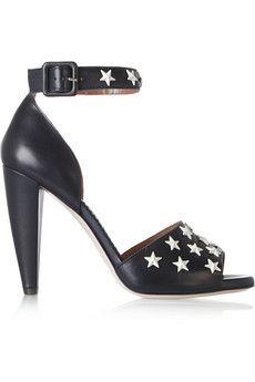 REDValentino Embellished leather sandals | NET-A-PORTER