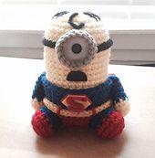 Ravelry: Superman Minion pattern by Jennifer Y. Wang