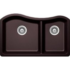 Buy Here: http://thd.co/1K2HifX SCHOCK ASH ASHN175U080 Undermount Composite 32.5 in. 0-Hole 70/30 Double Bowl Kitchen Sink in Acai #kitchensink #kitchensinks #kitchen #sinks #schock #granitesink