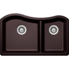 Buy Here: http://thd.co/1K2HifX SCHOCK ASH ASHN175U080 Undermount Composite 32.5 in. 0-Hole 70/30 Double Bowl Kitchen Sink in Acai #kitchensink #kitchensinks #kitchen #sinks #schock #granitesink