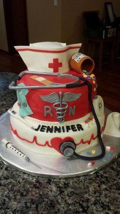 Nursing - Cake by Brenda. Check out that cool T-Shirt here: https://www.sunfrog.com/Funny-nurse-T-Shirt-Black-Ladies.html?53507