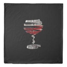 #Weird Wine Glass (1 side) Queen Duvet Cover - customized designs custom gift ideas