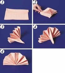A method of folding napkins Table fan A method of folding napkins Table fan The initial form of cloth folded in half right side out ( fold up). Fancy Napkin Folding, Christmas Napkin Folding, Cloth Napkins, Paper Napkins, Breakfast Table Setting, Paper Towel Crafts, Table Etiquette, Diy And Crafts, Crafts For Kids
