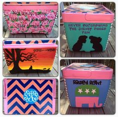Sorority painted cooler