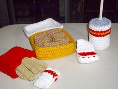 patternChicken Nuggets Fries and Soda by crochetbysandi on Etsy, $7.50