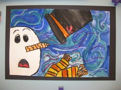 ... art of Vincent Van Gogh. We looked at Starry Night and noticed the swirly brushstrokes in the sky. Inspired by our snowy weather, we drew snowmen on a ...
