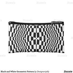 Black and White Geometric Pattern Cosmetics Bags Cosmetic Bag, Wedding Gifts, Cosmetics, Black And White, Pattern, Bags, Accessories, Design, Wedding Day Gifts