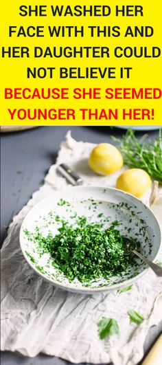 This homemade lotion made of parsley leaves and lemon (or apple cider vinegar) will help you to whiten your skin and clean your face from dark spots and freckles and your skin will receive a healthy shine! Skincare   Clean face   Face Care   #homemadelotion #cleanface #skincare #facecare #healthfitnessnutrition