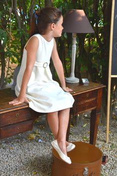 "collection AW 16/17 ""Maxime et Valentin"" Robe ivoire ""Line"" (lavable machine ;-) )"