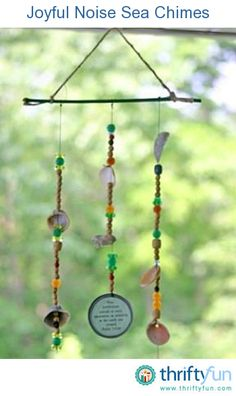 Windchimes made of sea things, beads, and recycled can lids seemed like a good fit for our deep sea-themed Bible School program. It will take two days.